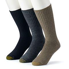 Men's GOLDTOE 3-pk. Cotton Fluffies Crew Socks