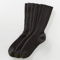 Men's GOLDTOE 3 pkCotton Fluffies Crew Socks