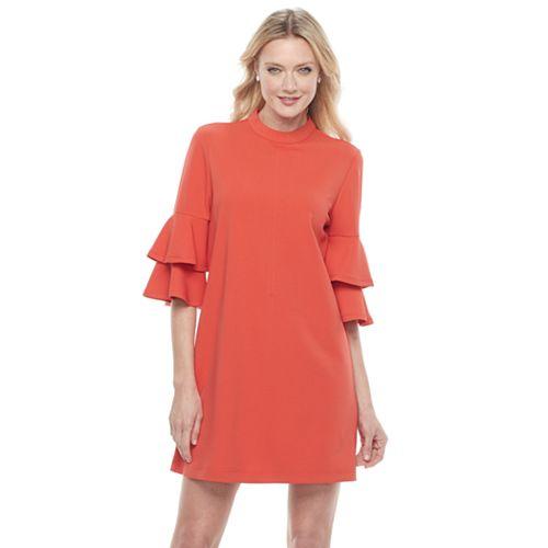 Women's Sharagano Mockneck Shift Dress