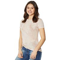 Juniors' Wallflower Tie-Dye Twist-Front Tee