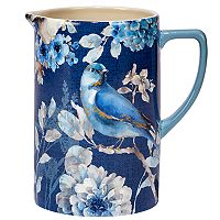 Certified International Indigold Bird Pitcher