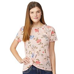 Juniors' Wallflower Knot-Front Tee