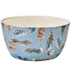Certified International Indigold Feathers Serving Bowl