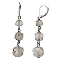 Simply Vera Vera Wang Beaded Nickel Free Linear Drop Earrings