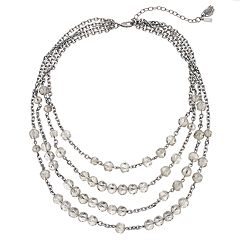 Simply Vera Vera Wang  Beaded Multi Strand Necklace