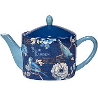 Certified International Indigold Floral Teapot