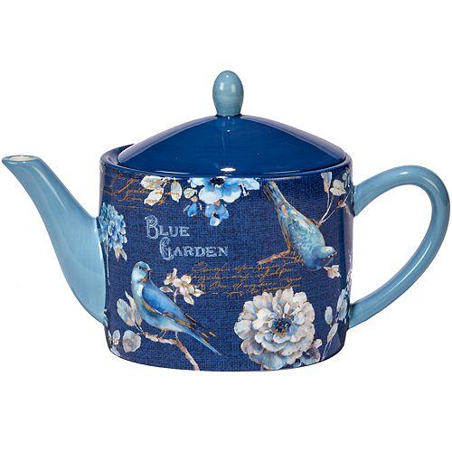 Certified International Indigold Floral Teapot