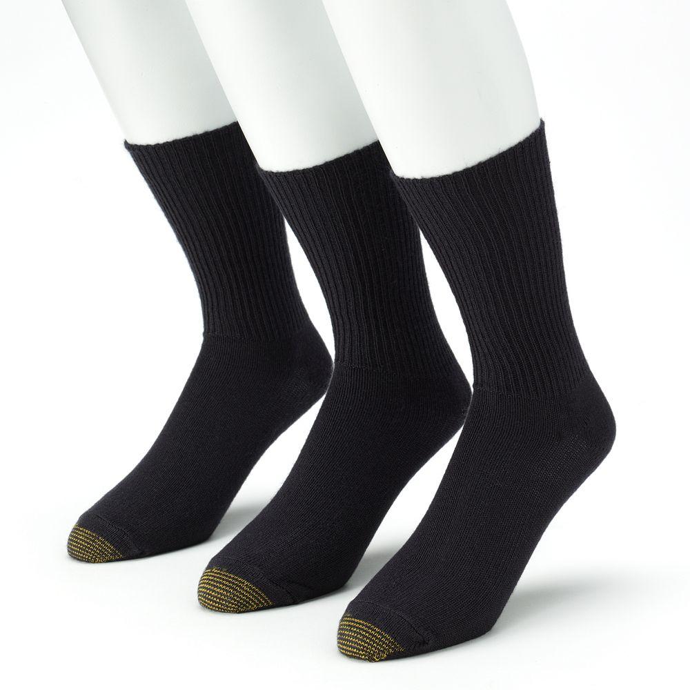Men's GOLDTOE® ® 3-pk. Fluffies Crew Socks