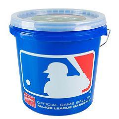 Rawlings 12U Bucket & 24 Baseballs Set