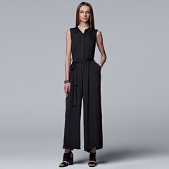 Women's Simply Vera Vera Wang Wide-Leg Black Jumpsuit