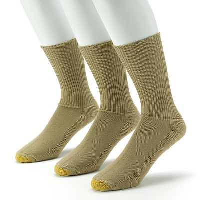 GOLDTOE 3-pk. Cushioned Foot Fluffies Crew Socks
