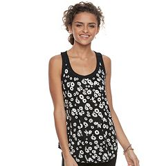 Juniors' Candie's® Print Mixed-Media Tank