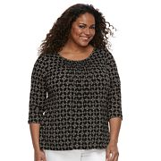 Plus Size Croft & Barrow® Peasant Top