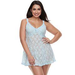 Plus Size Lunaire Lace Babydoll Chemise 4214KX