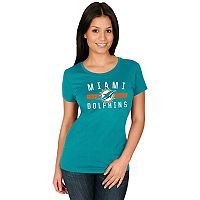 Women's Majestic Miami Dolphins Franchise Fit Tee