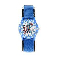 Marvel Avengers Assemble Captain America Kids' Time Teacher Watch