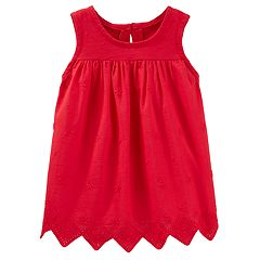 Toddler Girl OshKosh B'gosh® Eyelet Zigzag-Hem Tank Top