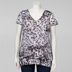 Plus Size Simply Vera Vera Wang Layered Top