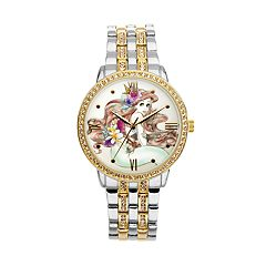 Disney Princess Ariel Women's Crystal Two Tone Watch