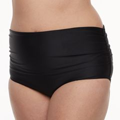 Women's Croft & Barrow® Shirred High-Waisted Bikini Bottoms