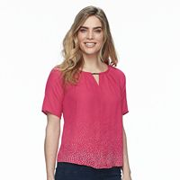 Petite Apt. 9® Pleated Short Sleeve Top