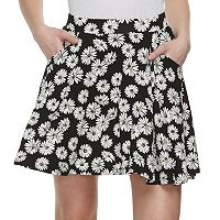 Juniors' SO® Floral Skater Skirt