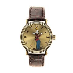 Disney's Goofy Men's Leather Watch