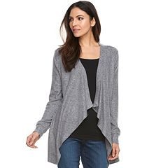 Women's Juicy Couture Mixed-Media Draped Cardigan