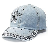 Women's Mudd® Star Bling Baseball Cap