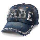 "Women's Mudd® ""Babe"" Bling Baseball Cap"