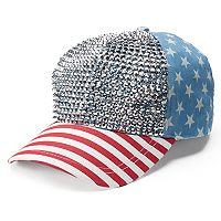 Women's Mudd® Americana Bling Baseball Cap