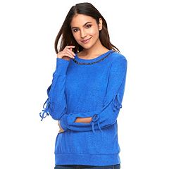 Women's Juicy Couture Tie Sleeve Sweatshirt
