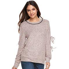 Women's Juicy Couture Tie Sleeve Sweatshirt