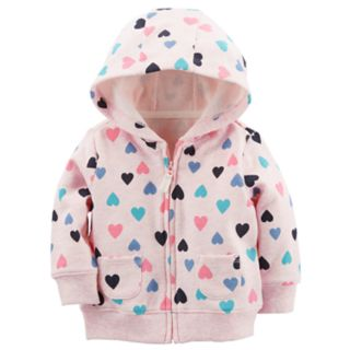Baby Girl Carter's Colorful Hearts Zip Cardigan