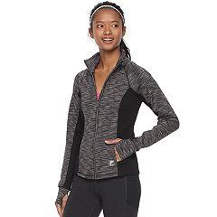 Women's FILA SPORT® Pleated Back Thumb Hole Jacket