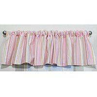 Nurture 2-pk. Crazy Daisy Pink Stripe Valance Set