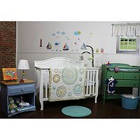 Nurture Circles & Twill 3 pc Nursery Bedding Set