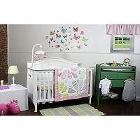Nurture Butterflies & Daisies 3-pc. Nursery Bedding Set