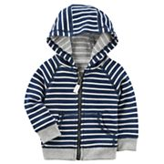 Baby Boy Carter's Striped French Terry Zip Cardigan