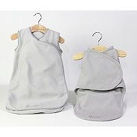 Candide Baby Luxury Swaddling & Infant Sleeper Bag Bundle - Blue