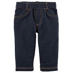 Baby Boy Carter's Pull On Knit Denim Pants