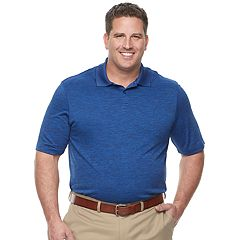 Big & Tall Haggar Regular-Fit Space-Dye Polo