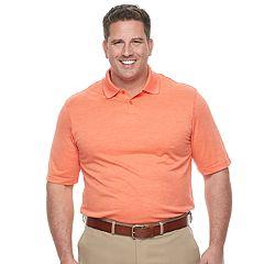 Big & Tall Haggar Regular-Fit Space-Dye Polo