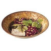 Certified International Gilded Wine Serving Bowl