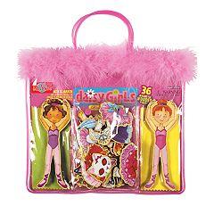 T.S. Shure Daisy Girls Ballet Wooden Magnetic Dress-Up Dolls
