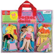 T.S. Shure Pocket Dolls Best Friends Wooden Magnetic Dress-Up Dolls