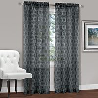 Achim Kent Geometric Embroidered Window Curtain