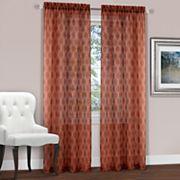 Achim Kent Geometric Embroidered Window Curtain