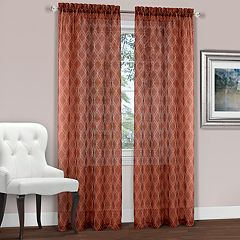 Achim 1-Panel Kent Geometric Embroidered Window Curtain