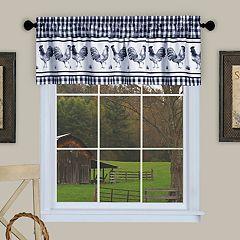 Achim Barnyard Rooster Plaid Window Valance